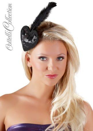 Haarspange mit Herz und Feder