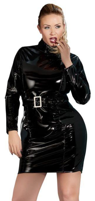 Lack-Kleid Gürtel
