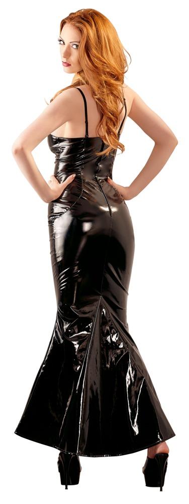 Lack-Kleid lang M (40/42)