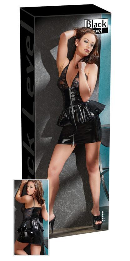 Lack-Kleid schwarz